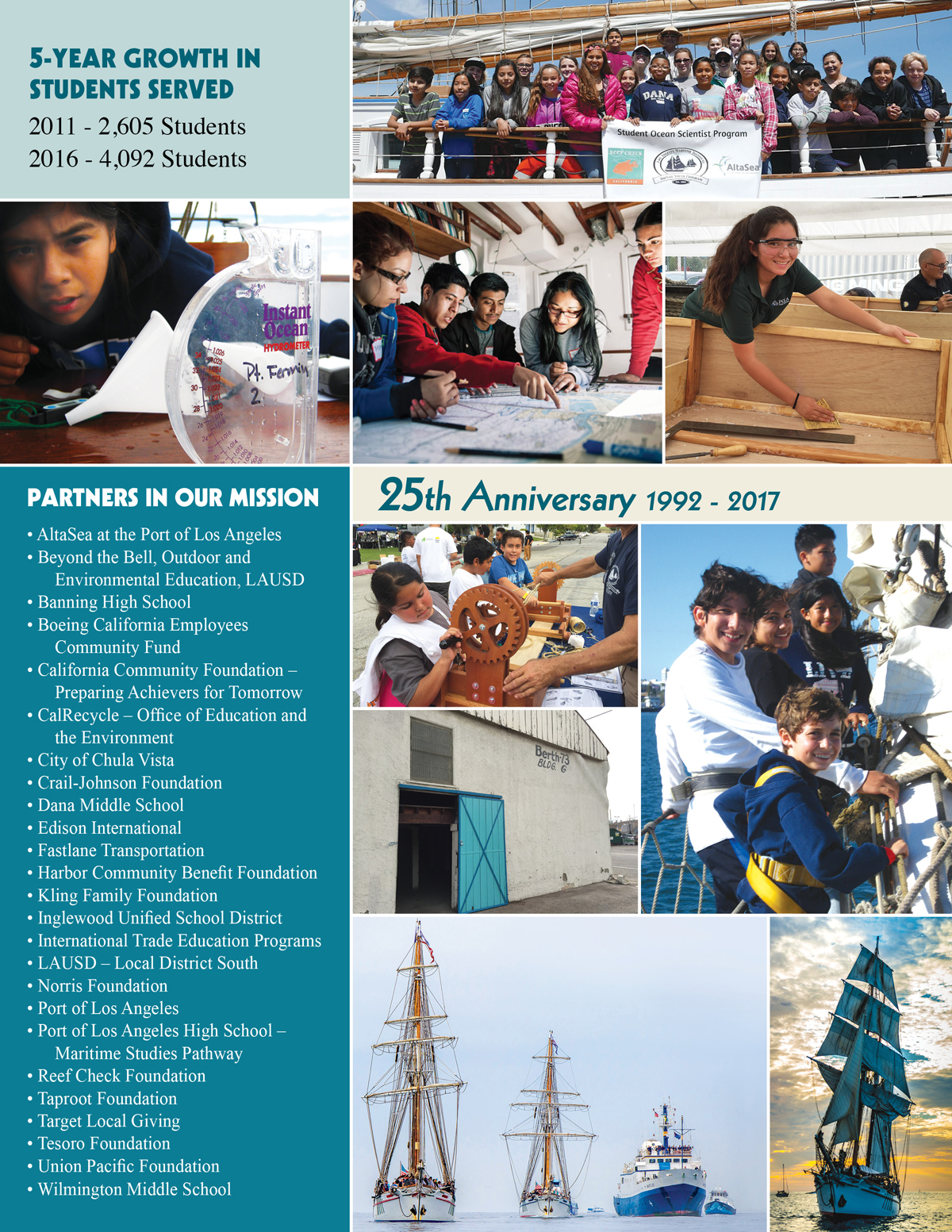 Support youth education at sea in Los Angeles