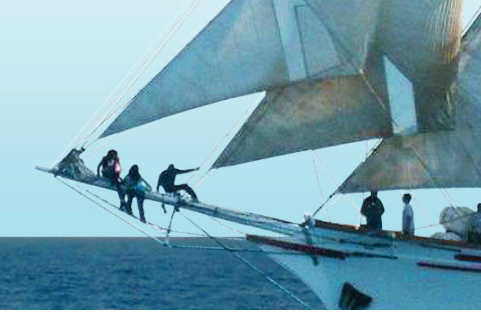 Support youth programs at sea.
